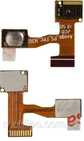 Шлейф для Lenovo A850 с кнопкой включения и датчиком приближения