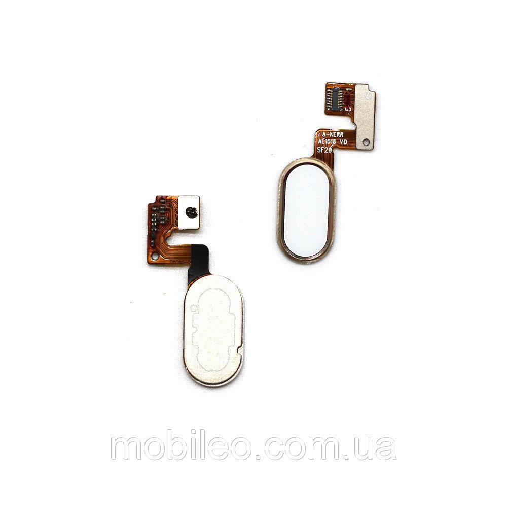 Шлейф для Meizu M3 Note | L681H с кнопкой меню (Home) (14pin), золотой