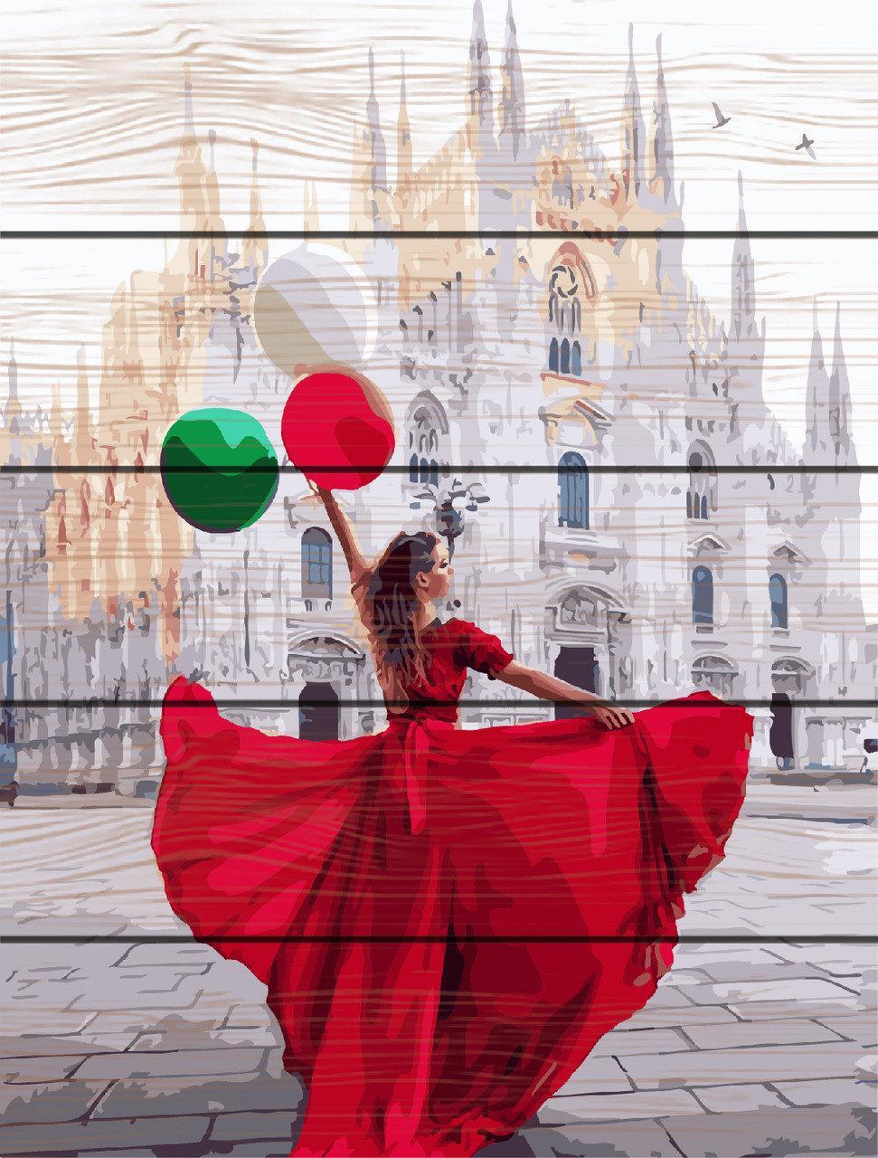 Картина по номерам на дереве Миланский собор (RA-GXT24908) 40 х 50 см
