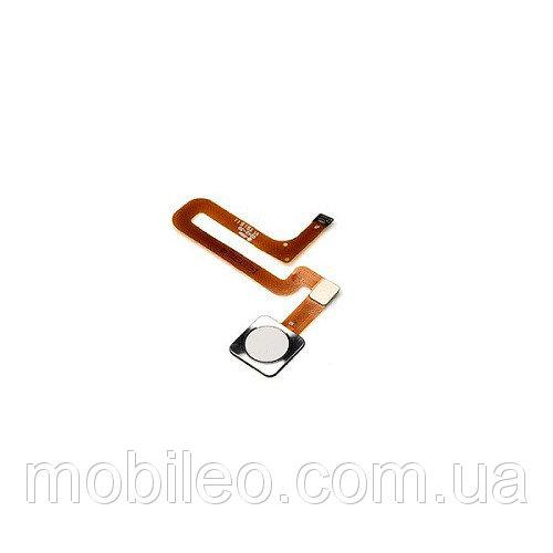 Шлейф для Xiaomi Mi4s с кнопкой меню (Home) белый