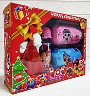 Подарочный новогодний набор LOL Surprise серия AMAZING, 2 большие капсулы LOL, колокольчик, конфетти, шарики