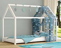 Деревянная односпальная детская кровать Вики 90х200 Mebigrand сосна белый