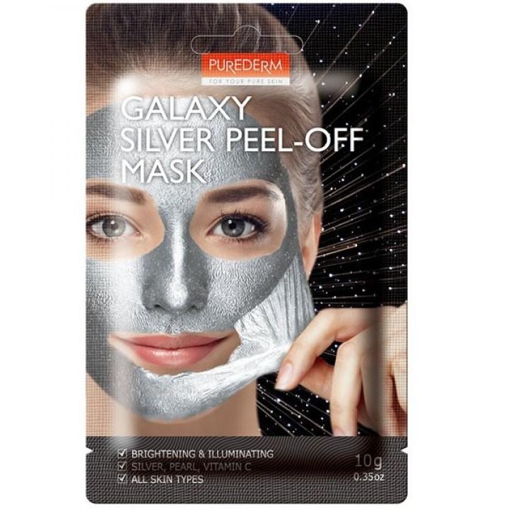 Очищуюча маска-плівка срібна Purederm Galaxy Silver Peel-Off Mask