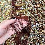 Садко 598-56, павлопосадский платок шерстяной с шелковой бахромой, фото 5