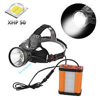 Шахтарський ліхтар налобний Police W631-P70-XHP50 самий яскравий світлодіод