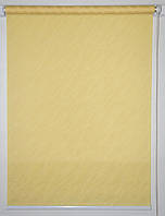 Готовые рулонные шторы 325*1500 Ткань Вода 2072 Жёлтый