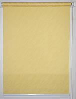 Готовые рулонные шторы 350*1500 Ткань Вода 2072 Жёлтый