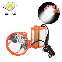 Шахтарський ліхтар налобний Small Sun ZY-H32-XHP50 самий яскравий світлодіод