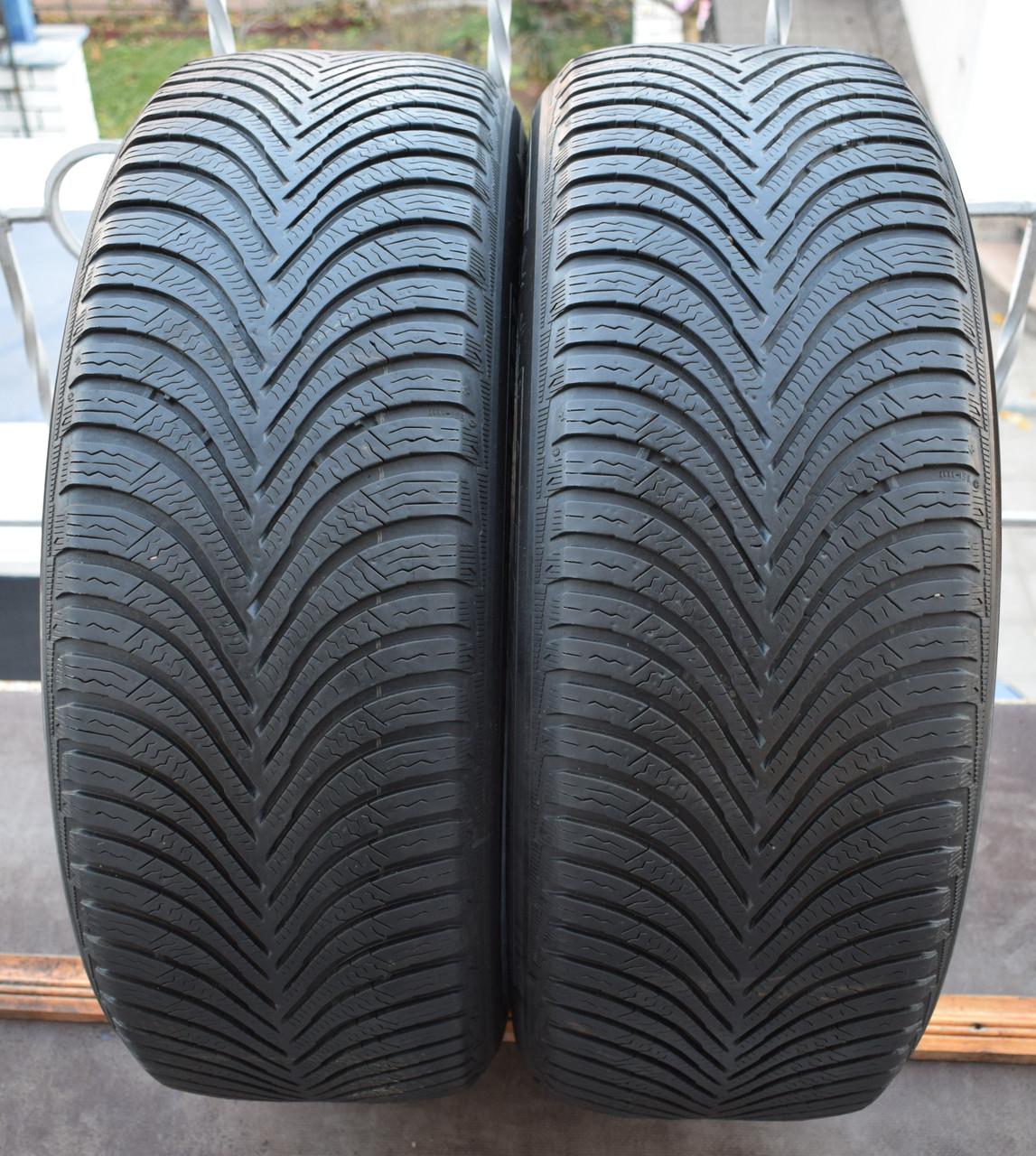 Шины б/у 215/60 R16 Michelin Alpin A5, ЗИМА, 5+ мм, 2016 г., пара