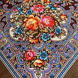 Весёлые деньки 1879-16, павлопосадский платок шерстяной  с осыпкой (оверлоком), фото 3