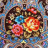 Весёлые деньки 1879-16, павлопосадский платок шерстяной  с осыпкой (оверлоком), фото 4