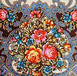 Весёлые деньки 1879-16, павлопосадский платок шерстяной  с осыпкой (оверлоком), фото 6
