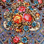 Весёлые деньки 1879-16, павлопосадский платок шерстяной  с осыпкой (оверлоком), фото 5