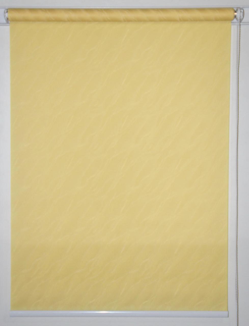 Рулонная штора 1250*1500 Вода 2072 Жёлтый