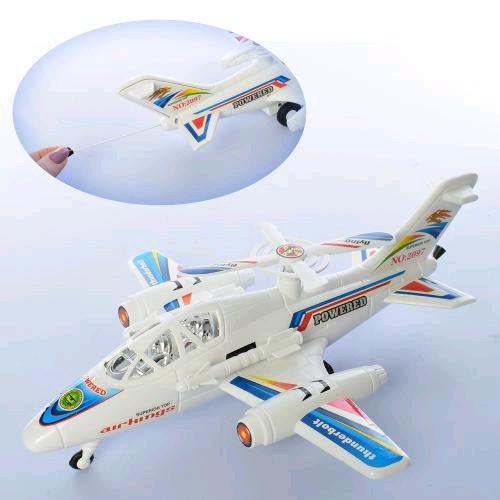 Самолет 2097A заводной 32см ездит вращается винт в шарик 32-9-7см