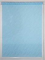 Готовые рулонные шторы 300*1500 Ткань Вода 1840 Голубой