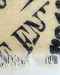 Палантин шерстяной 10749-5, павлопосадский шарф-палантин шерстяной (разреженная шерсть) с осыпкой, фото 4