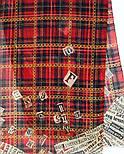 Палантин шерстяной 10749-5, павлопосадский шарф-палантин шерстяной (разреженная шерсть) с осыпкой, фото 6