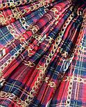 Палантин шерстяной 10749-5, павлопосадский шарф-палантин шерстяной (разреженная шерсть) с осыпкой, фото 8