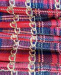 Палантин шерстяной 10749-5, павлопосадский шарф-палантин шерстяной (разреженная шерсть) с осыпкой, фото 3