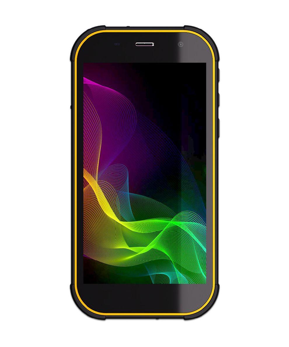 """Смартфон для активного отдыха с быстрой зарядкой и NFC 5"""" 2/16Gb Sigma X-treme PQ29 чёрно-оранжевый"""
