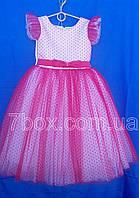 Детское платье бальное Горошки Возраст 5-6 лет. Красное Опт и Розница