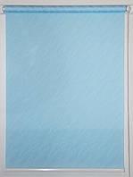 Готовые рулонные шторы 800*1500 Ткань Вода 1840 Голубой, фото 1