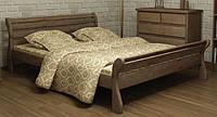 Кровать деревянная Верона 160х200 Mebigrand сосна орех темный