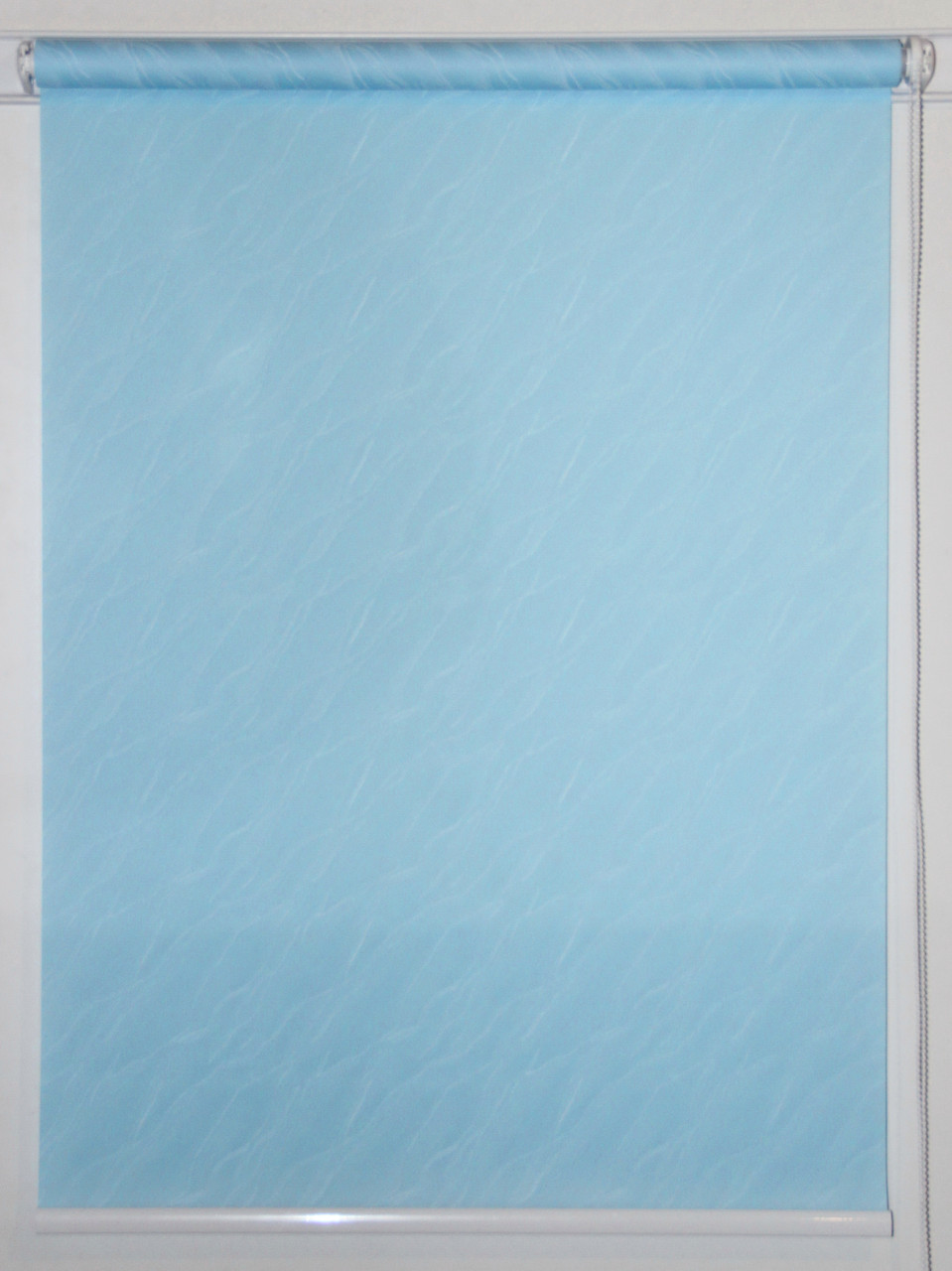 Готовые рулонные шторы 1400*1500 Ткань Вода 1840 Голубой