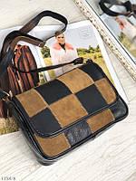 Женская цветная кожаная сумочка через плечо небольшая сумка кроссбоди натуральная кожа