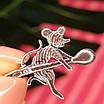 Серебряный сувенир Кошельковая Мышь-кормилица - Ложка-загребушка с мышкой, фото 2