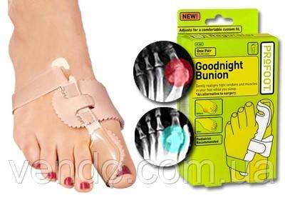 Ортопедический фиксатор для большого пальца ноги Goodnight Bunion, набор 2 шт.
