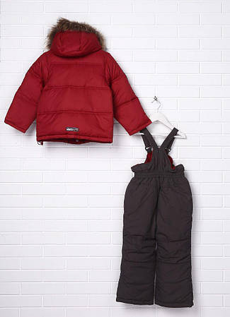 Детский зимний комбинезон для мальчика тинсулейт, внутри флис, натуральный мех Donilo 2206 | на рост 116р., фото 2