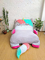 Детская мягкая кровать Единорог