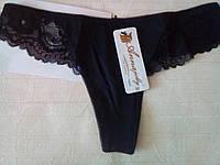 Трусики-стринги, черные, Annajolly 9650. Размер L, фото 1