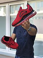 Мужские кроссовки в стиле Nike Air Max 720, текстиль, воздушная подушка, красные с черным 44 (28,3 см)