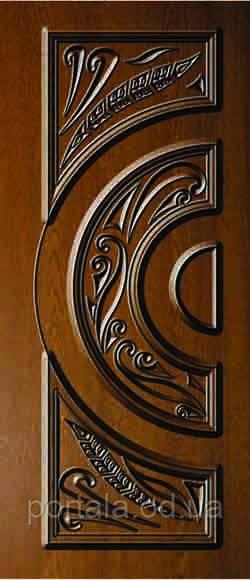 """Входная дверь """"Портала"""" (серия Премиум) ― модель АМ 2 Patina"""