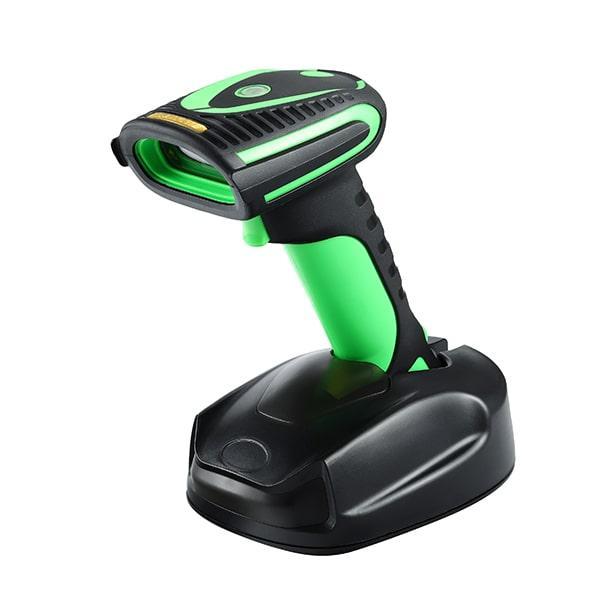 2D/1D беспроводной сканер штрихкода 2.4G+Bluetooth с базой для зарядки