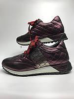 Кросівки жіночі шкіряні фіолетові. Кроссовки женские кожаные фиолетовые.