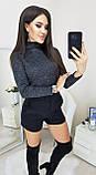 Гольфик женский бордо, бутылка, серый, синий, графит, 42, 44, 46, 48, фото 3