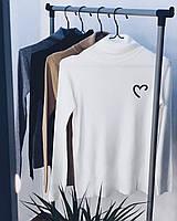 Гольфик женский чёрный, белый, серый, капучино, фото 1