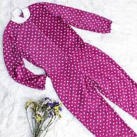 Детская флисовая пижама малиновая 146