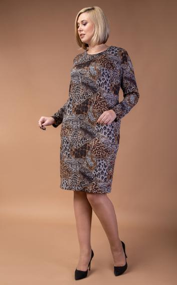 Нарядное женское платье из шлифованной ангоры