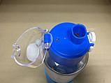 """Термобутылка в силиконовом чехле с поилкой """"Кот Дораэмон"""" 380 мл, фото 4"""