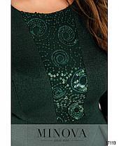 Нарядное платье макси батал приталенного силуэта с расклешённым подоломс 54 по 64  размер, фото 2