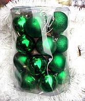 Новогодние елочные шары набор 24 шт 8 см, фото 1