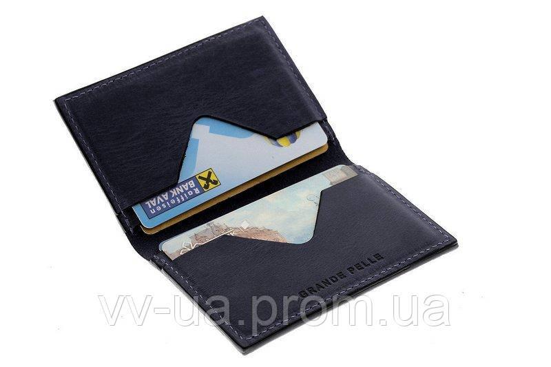 Картхолдер Grande Pelle Cartolina, синий (303170)