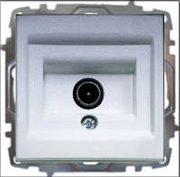 Розетка ТВ проходная ABB El-bi ZENA модуль серебро (металлик), Турция