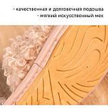 Домашні тапочки/Тапочки для дому/Жіночі домашні тапочки/Хутряні капці/Хутряні домашні тапки, фото 4