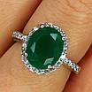 Серебряное кольцо с зеленым кварцем, фото 8